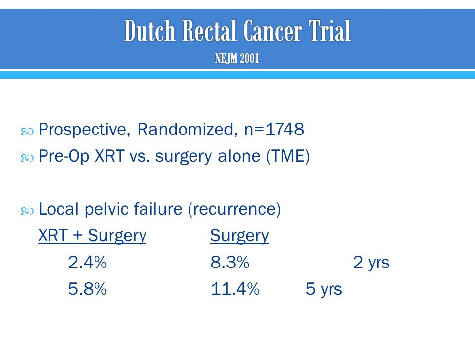 Dutch Rectal Cancer Trial NEJM 2001