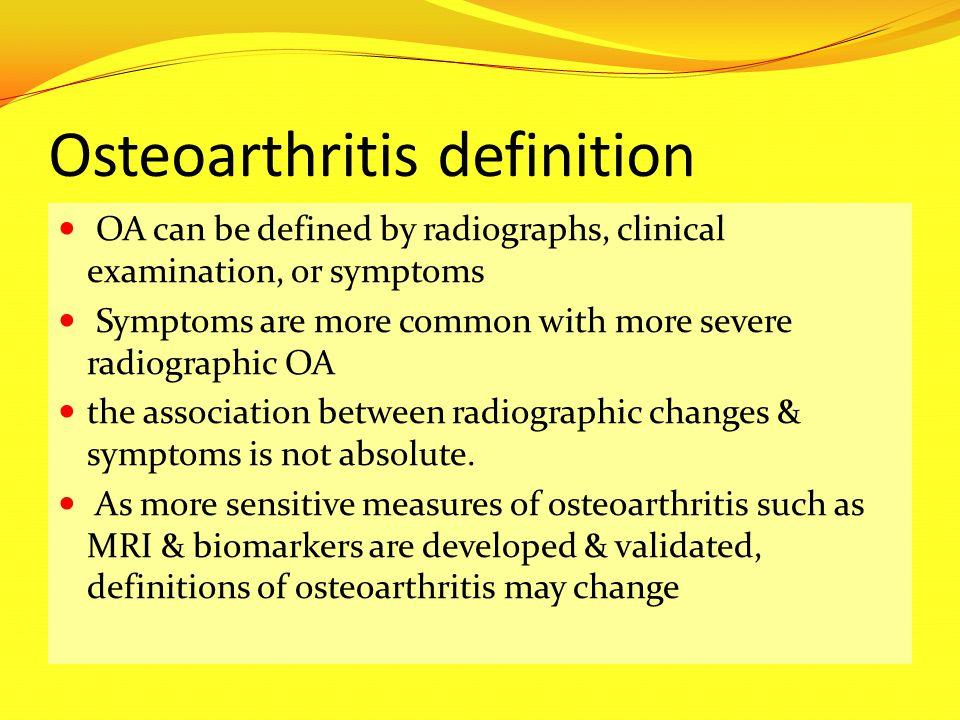 Osteoarthritis definition