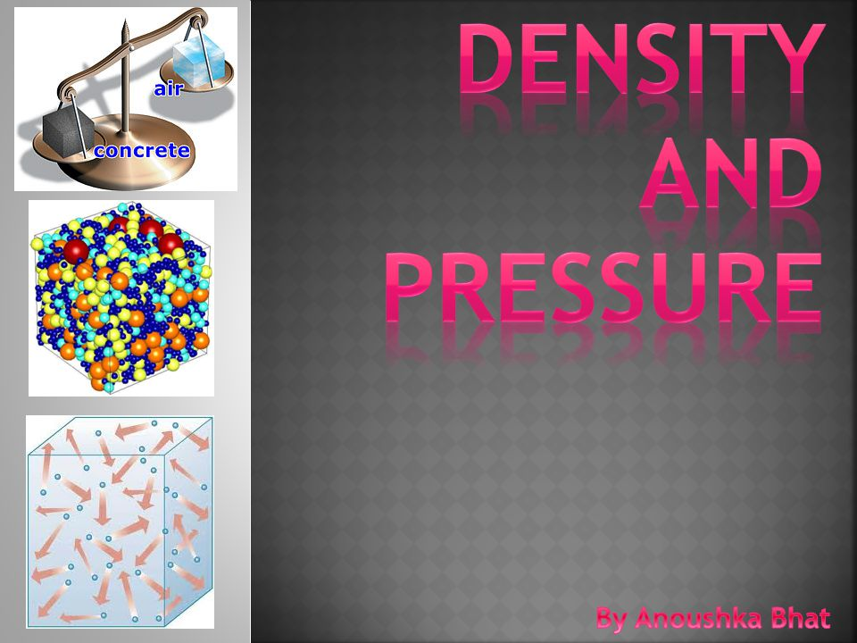 DENSITY AND PRESSURE By Anoushka Bhat
