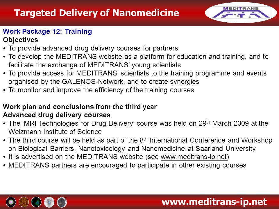 Work Package 12: Training
