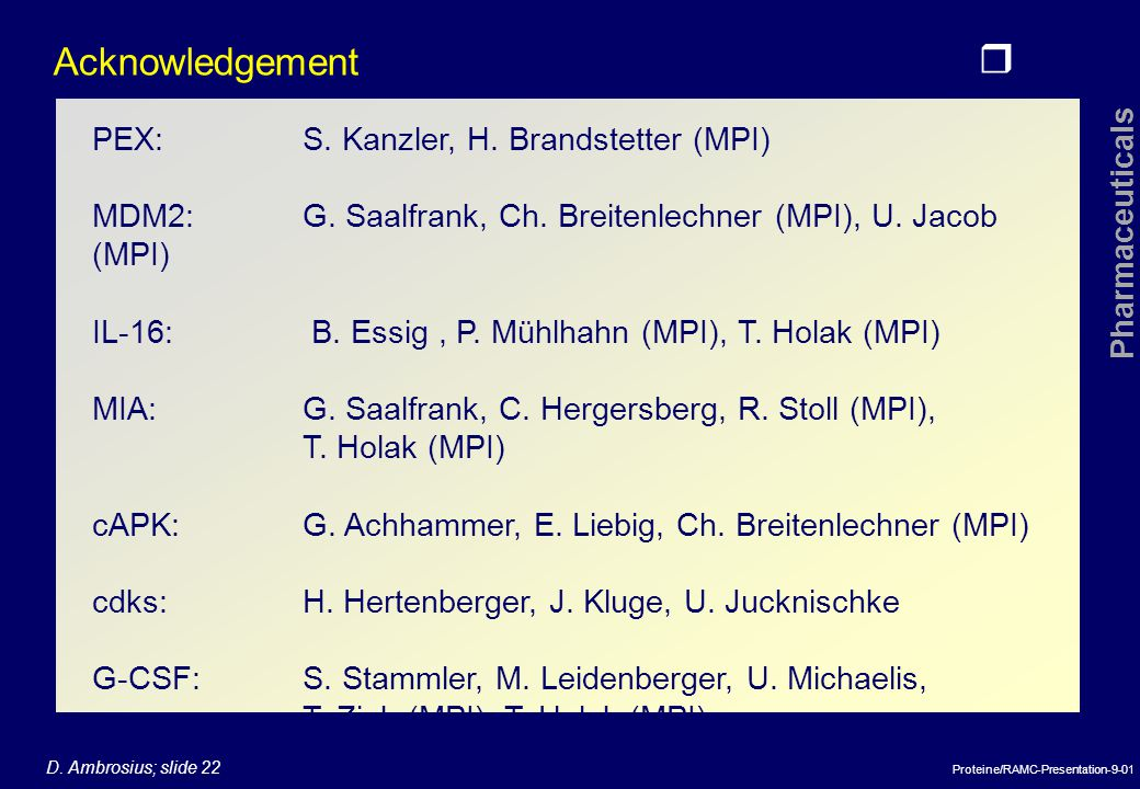 Acknowledgement PEX: S. Kanzler, H. Brandstetter (MPI)