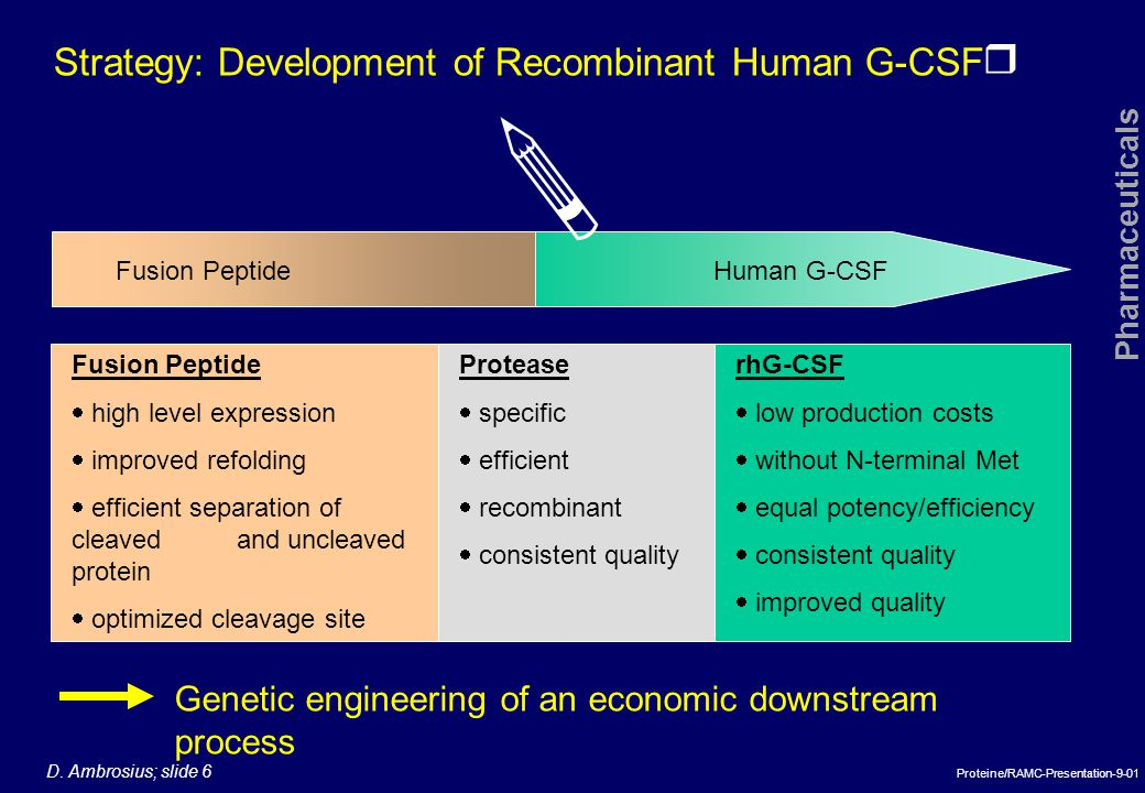  Strategy: Development of Recombinant Human G-CSF