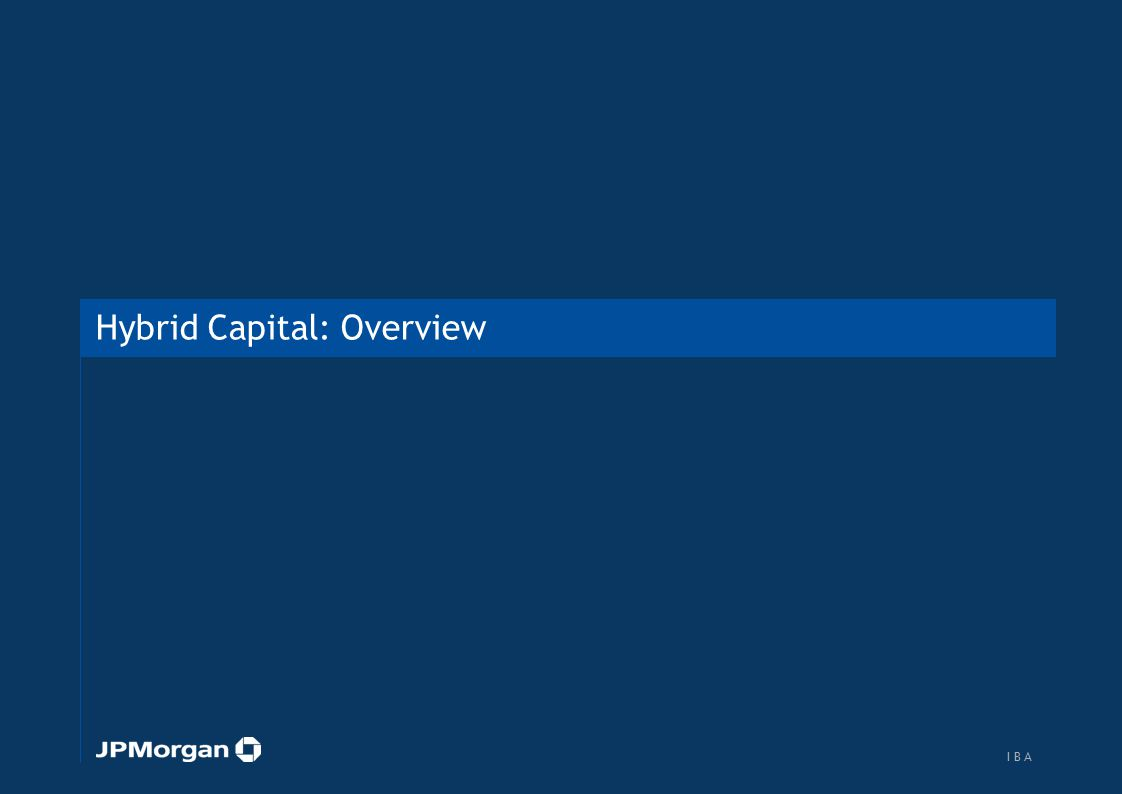 Overview of bank capital structure