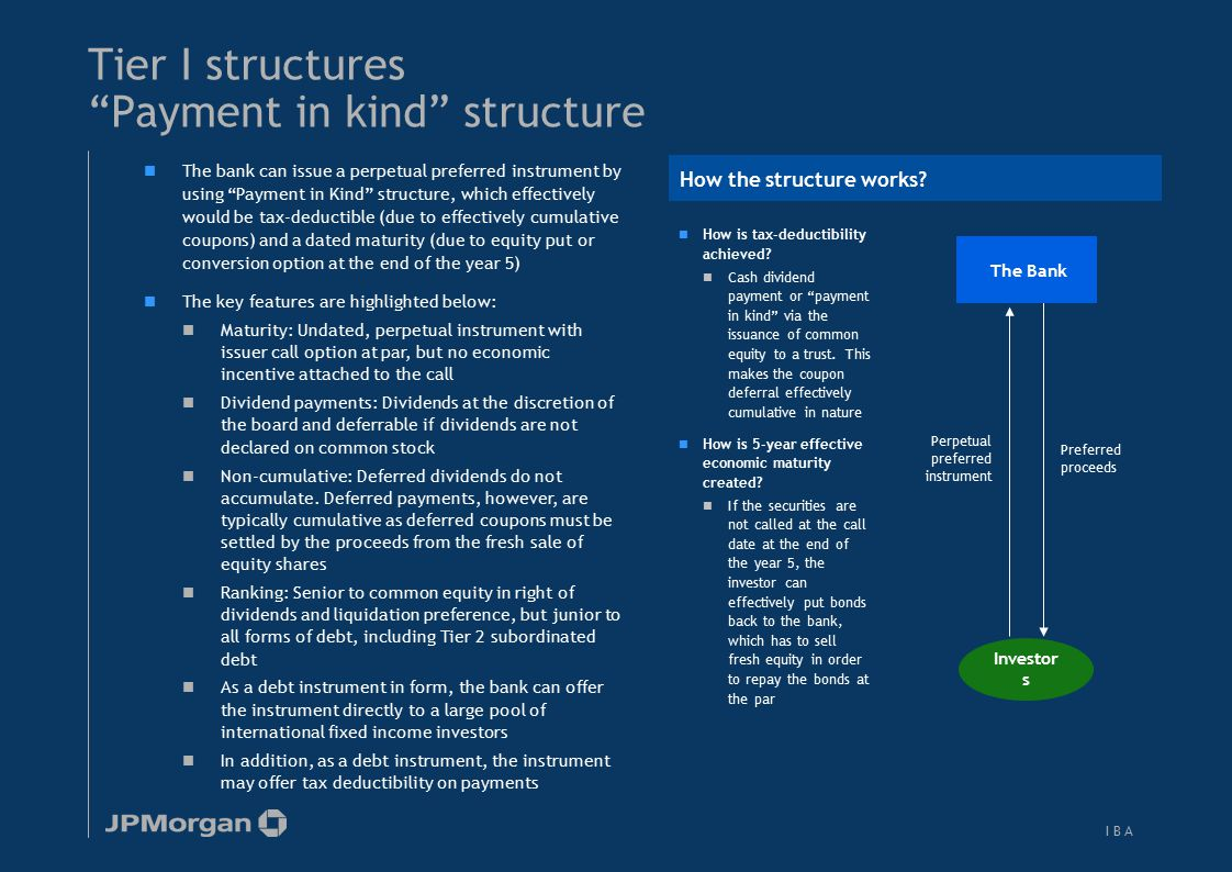 Tier I structures Direct issues (PROs, RCIs…)