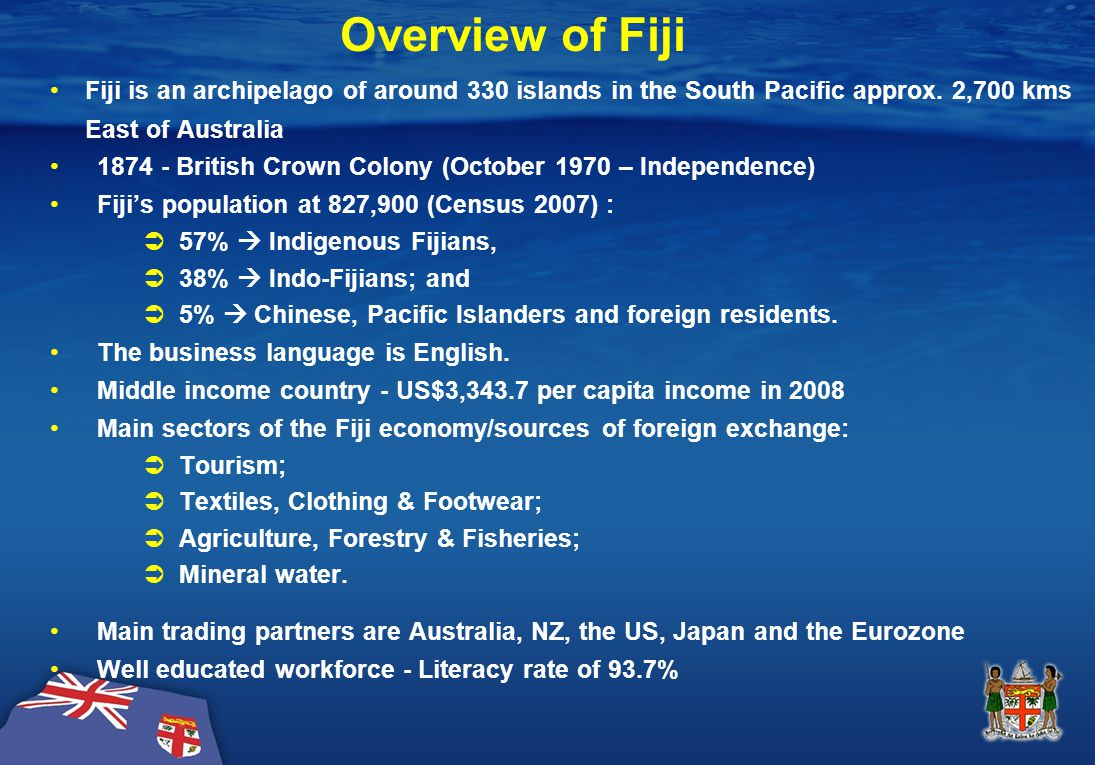 Fiji's Exports to Major Markets 2006-2009