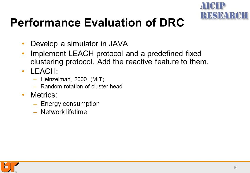 Performance Evaluation of DRC