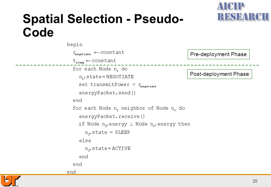 Spatial Selection - Pseudo-Code