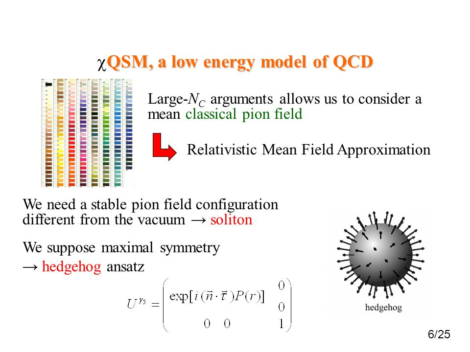 cQSM, a low energy model of QCD