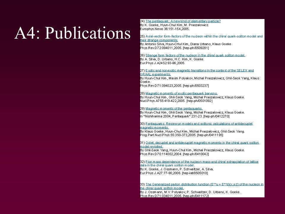 A4: Publications
