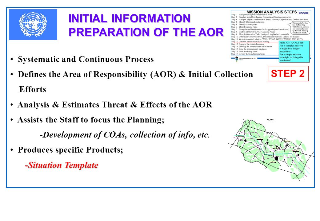INITIAL INFORMATION PREPARATION OF THE AOR
