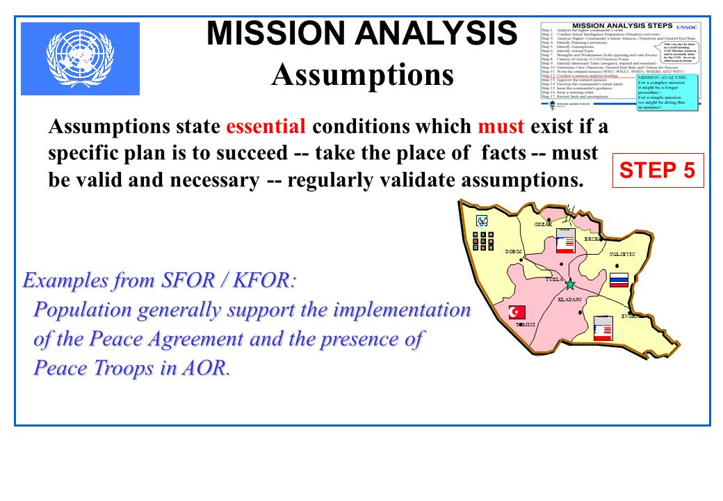 MISSION ANALYSIS Assumptions