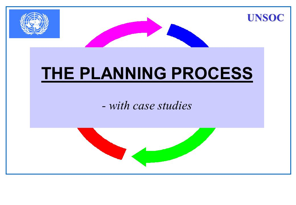 THE PLANNING PROCESS - with case studies