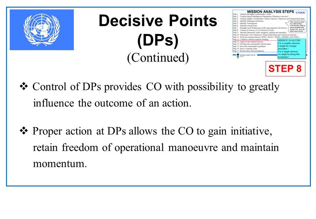Decisive Points (DPs) (Continued)