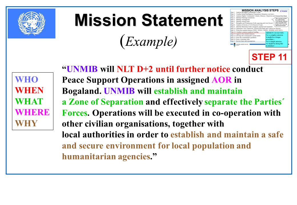 Mission Statement (Example)