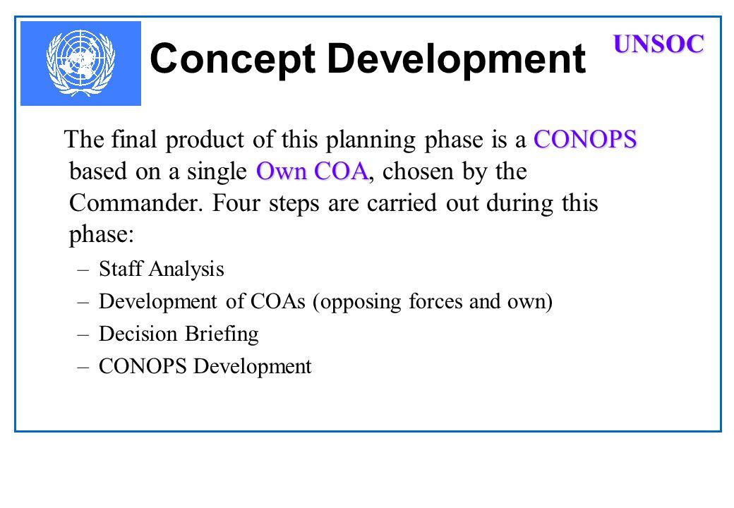Concept Development UNSOC