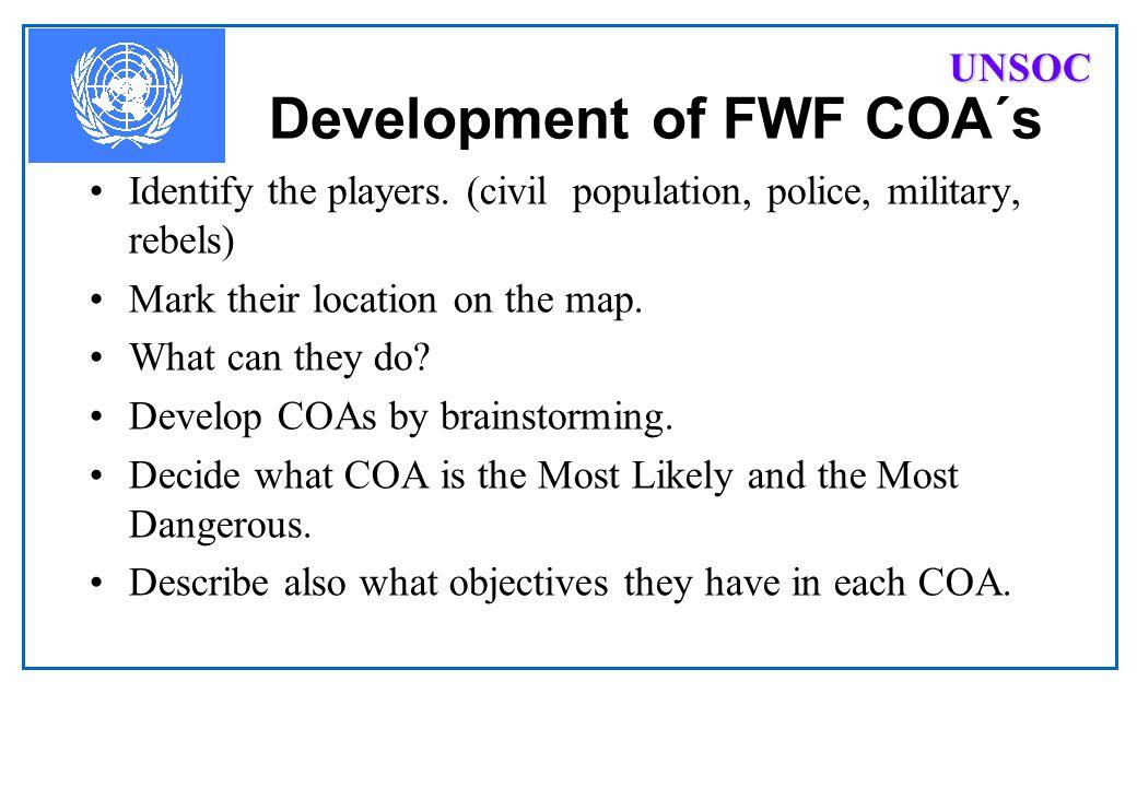 Development of FWF COA´s