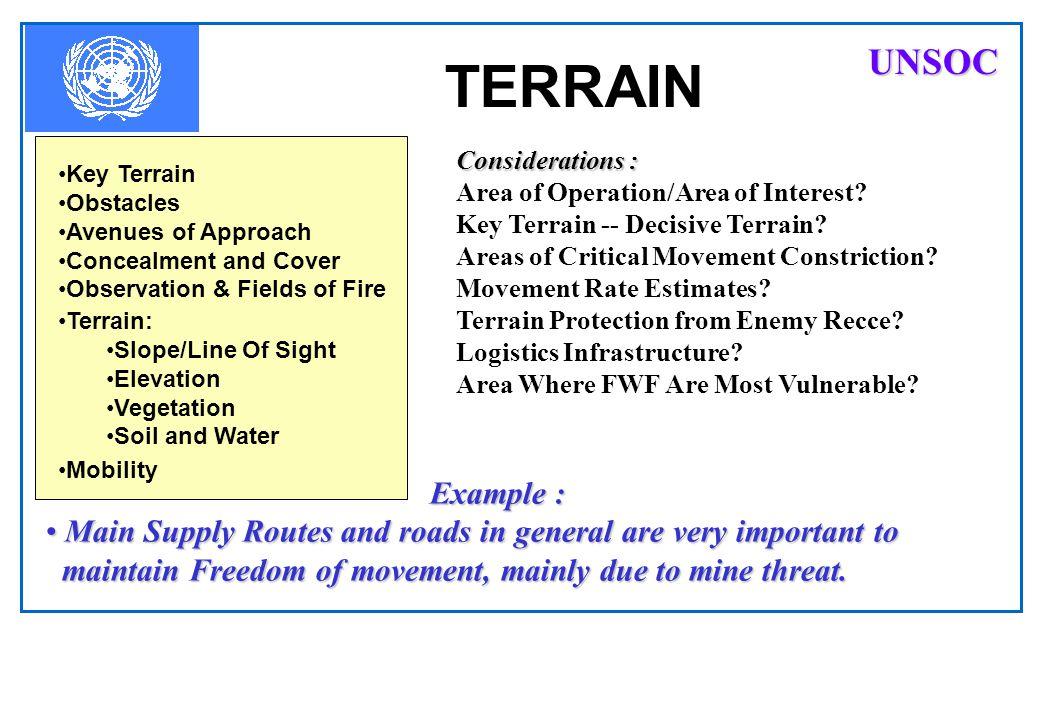 TERRAIN UNSOC Example :