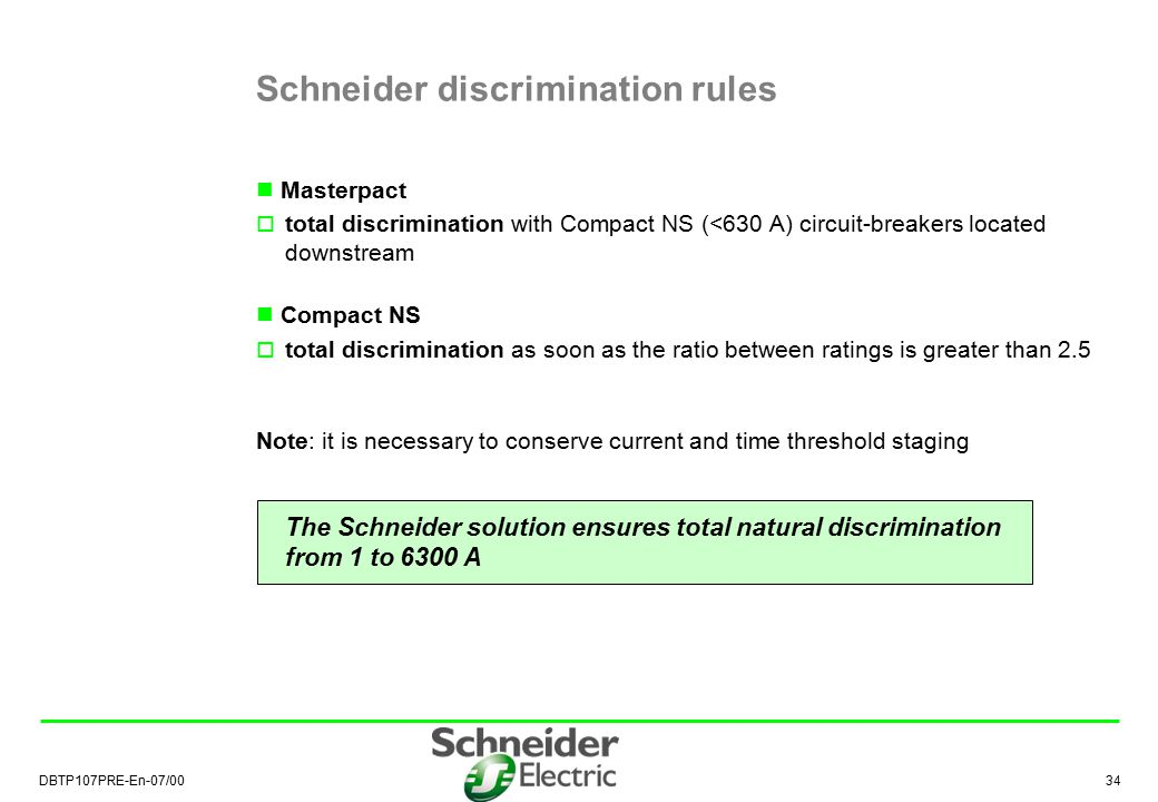 Schneider discrimination rules