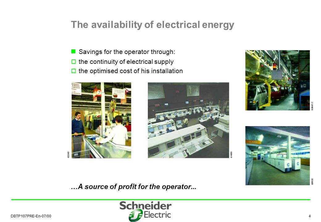 The availability of electrical energy