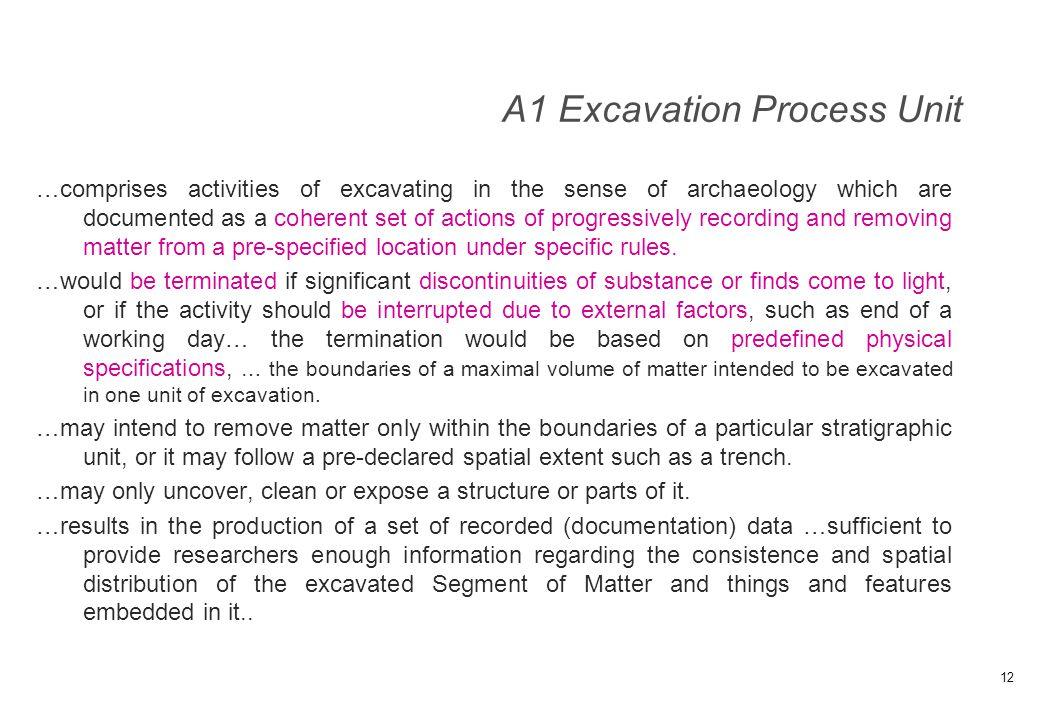 A1 Excavation Process Unit