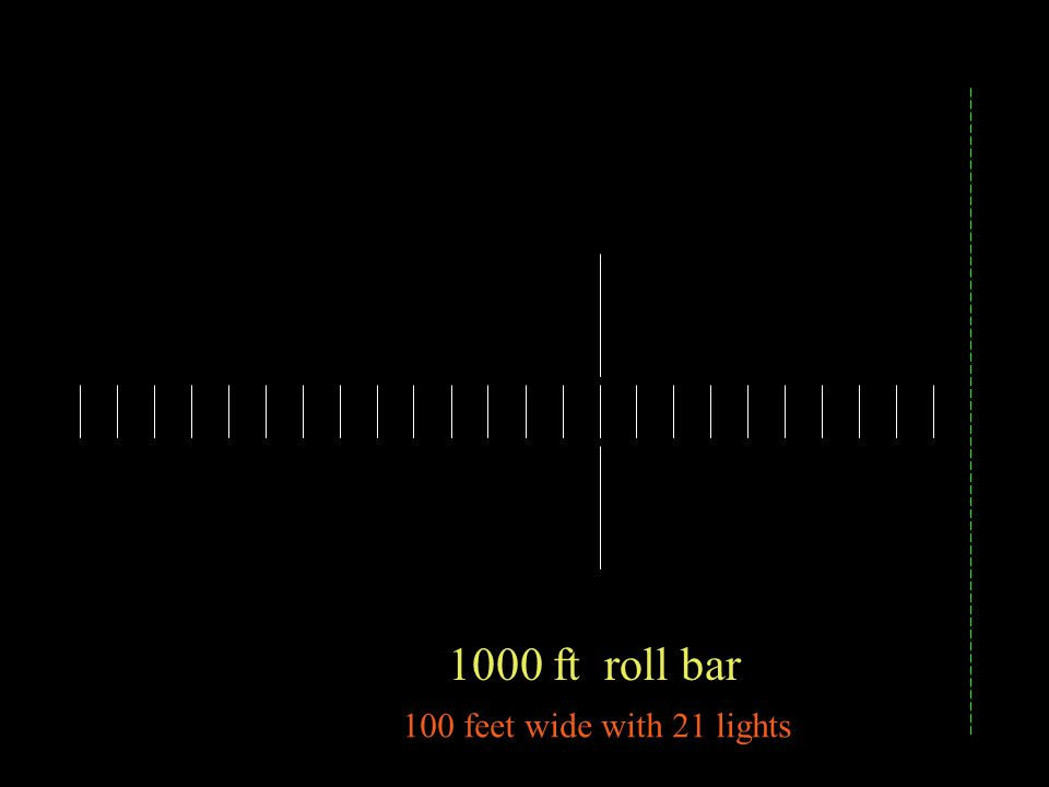 1000 ft roll bar 100 feet wide with 21 lights