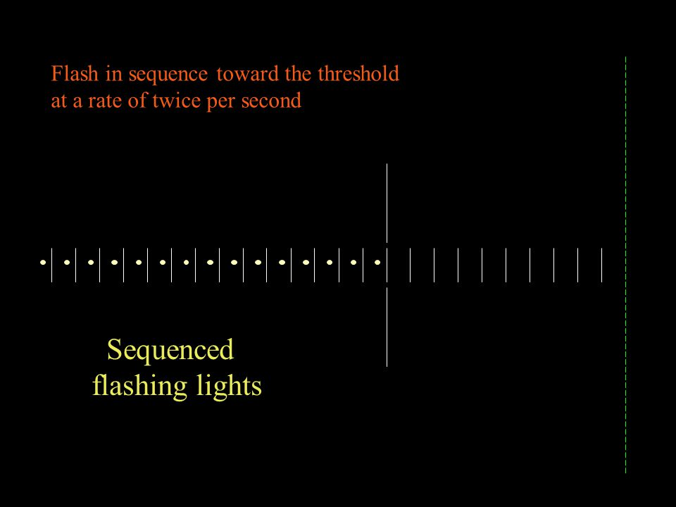 Sequenced flashing lights