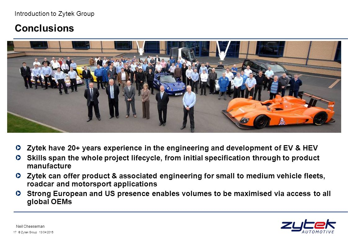 Introduction to Zytek Group