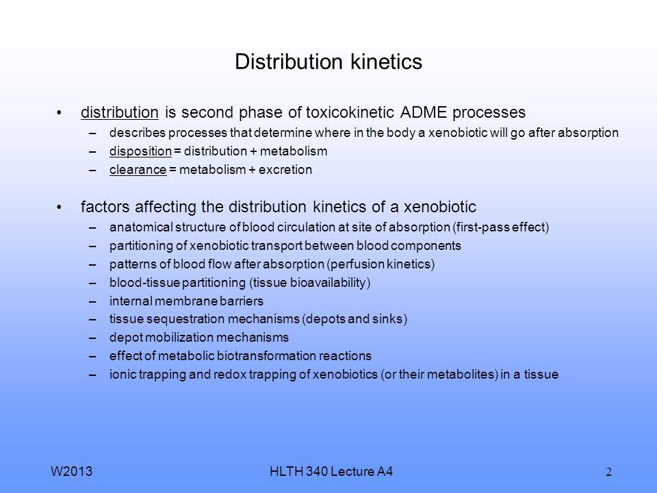 Distribution kinetics