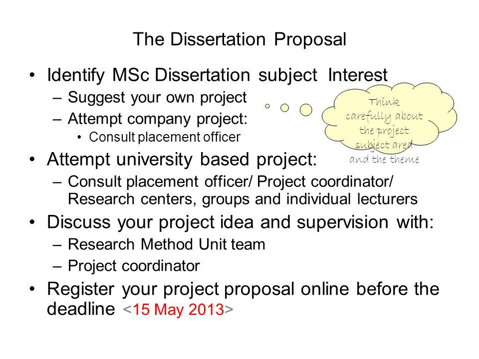 The Dissertation Proposal