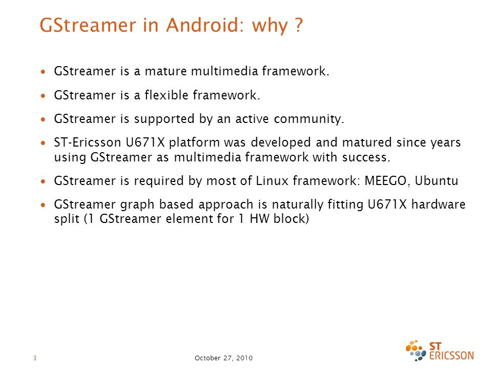 GStreamer in Android: why