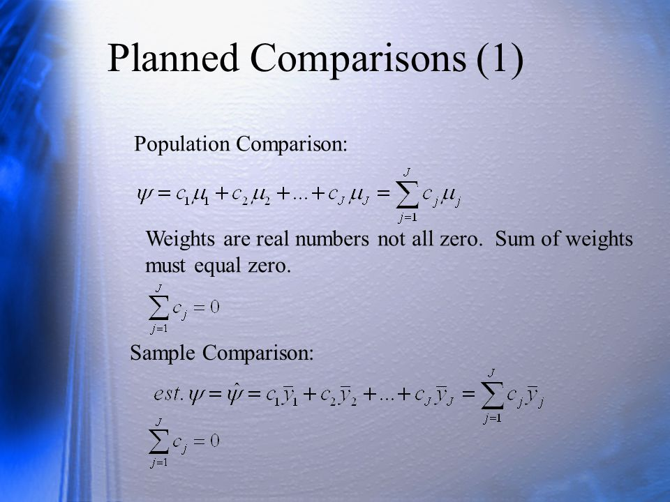 Planned Comparisons (1)