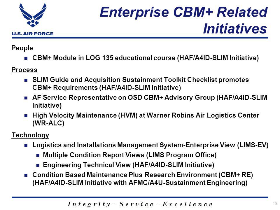 Enterprise CBM+ Related Initiatives