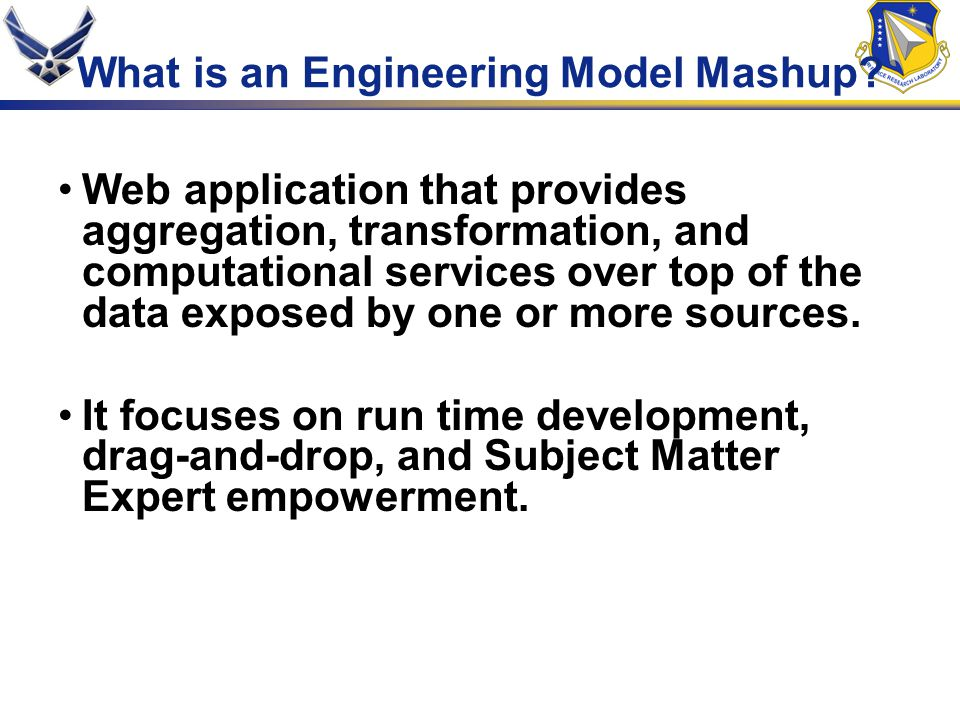 What is an Engineering Model Mashup