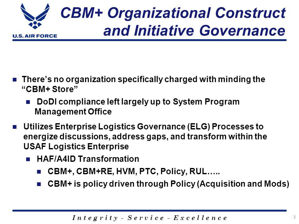 CBM+ Organizational Construct and Initiative Governance