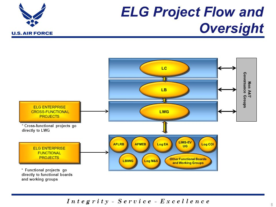 ELG Project Flow and Oversight