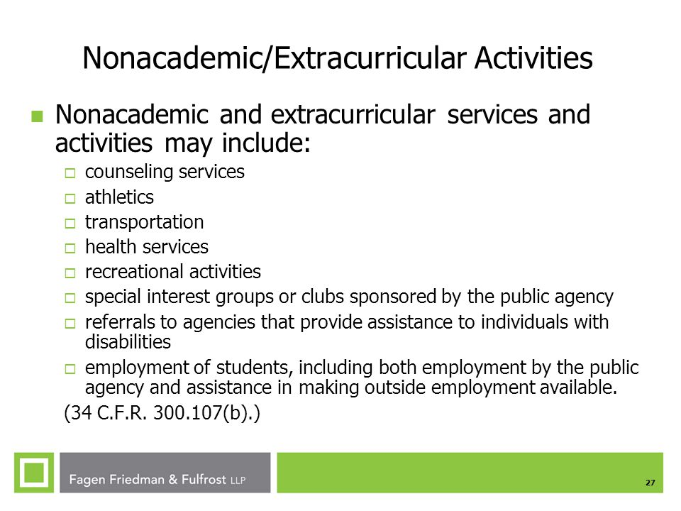 Nonacademic/Extracurricular Activities