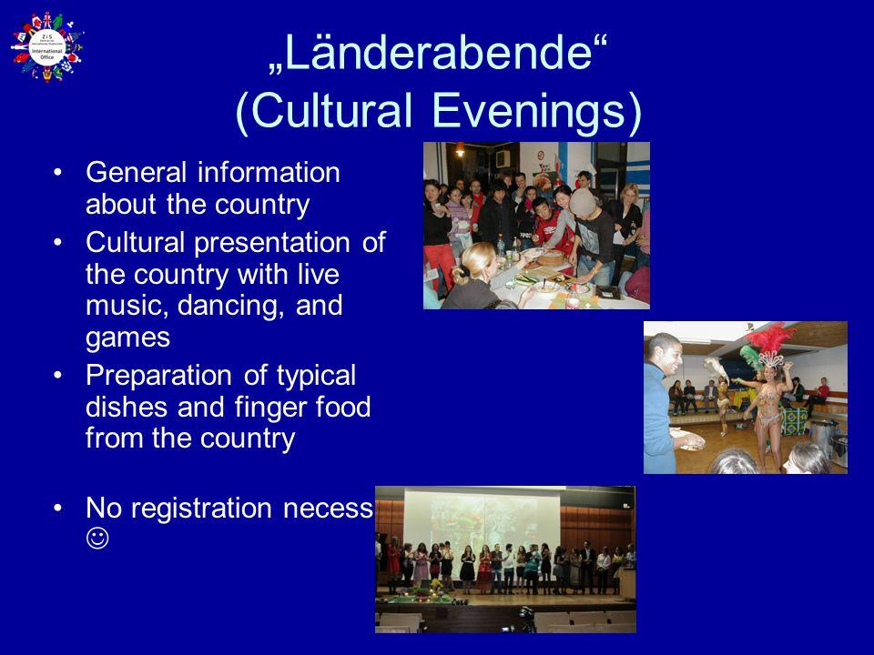 """""""Länderabende (Cultural Evenings)"""