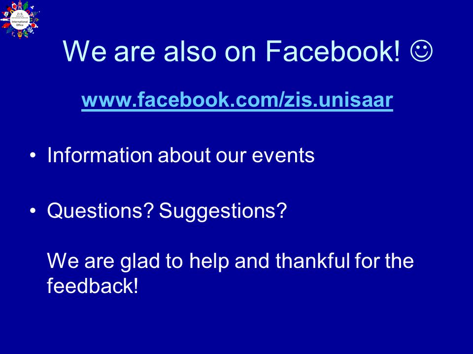 We are also on Facebook! 