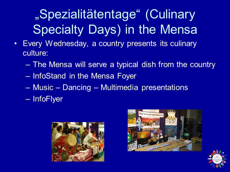 """Spezialitätentage (Culinary Specialty Days) in the Mensa"