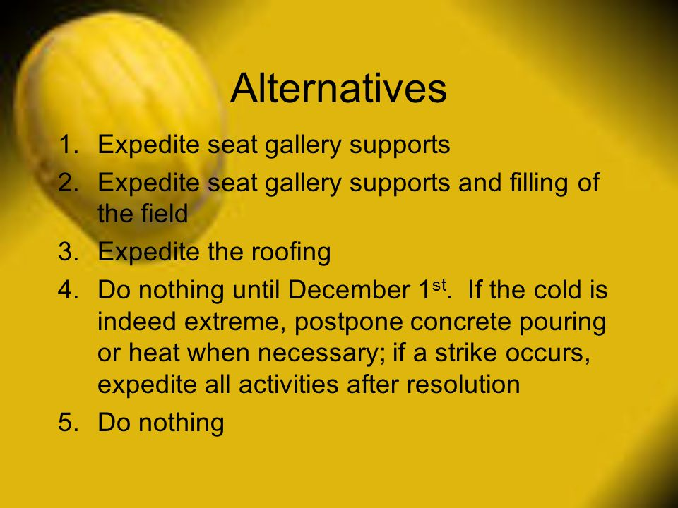Alternatives Expedite seat gallery supports