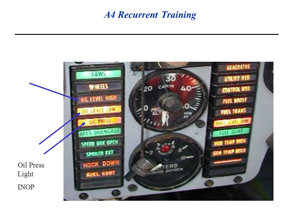 Oil Level Warning System. A-4N only