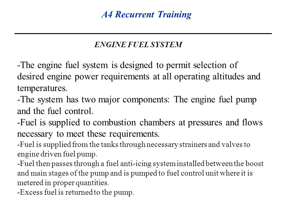 ENGINE FUEL SYSTEM