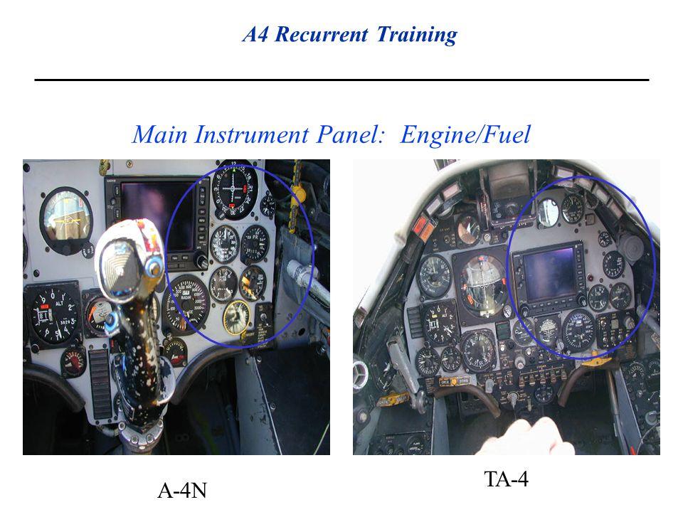 Main Instrument Panel: Engine/Fuel