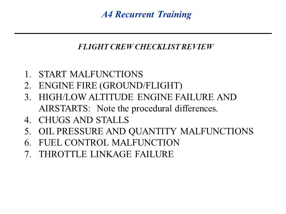 FLIGHT CREW CHECKLIST REVIEW
