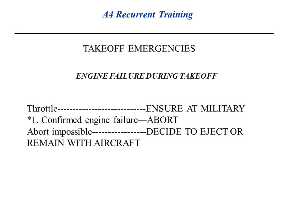 ENGINE FAILURE DURING TAKEOFF