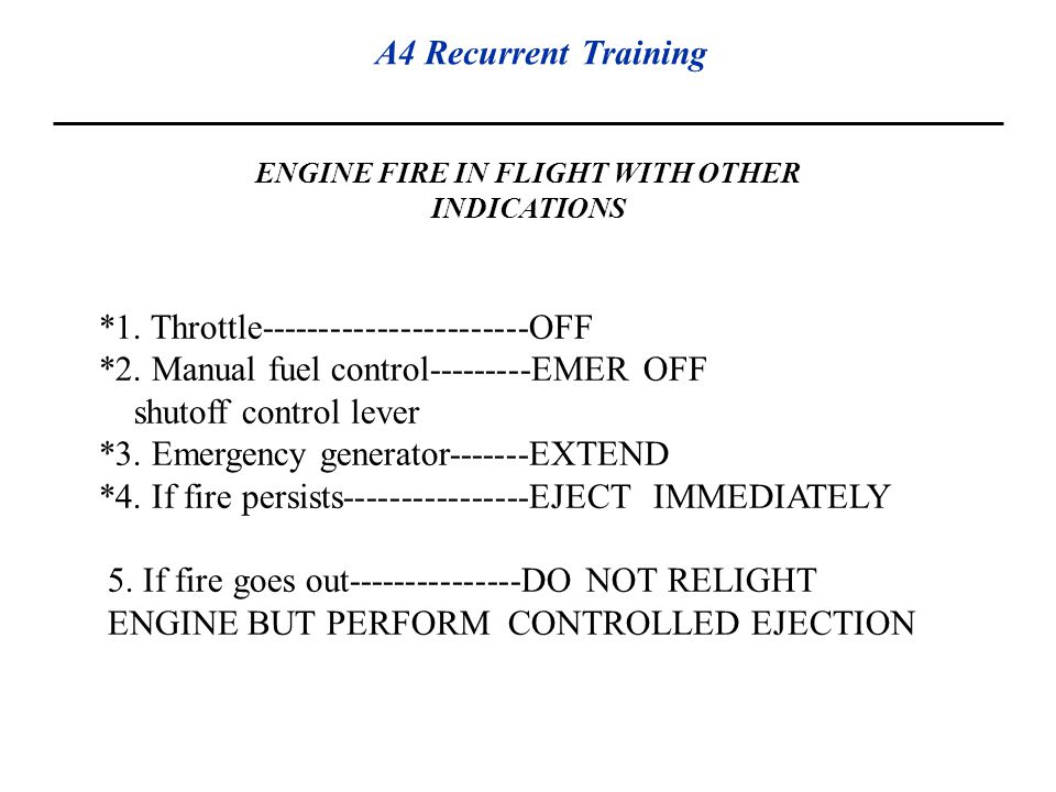ENGINE FIRE IN FLIGHT WITH OTHER INDICATIONS