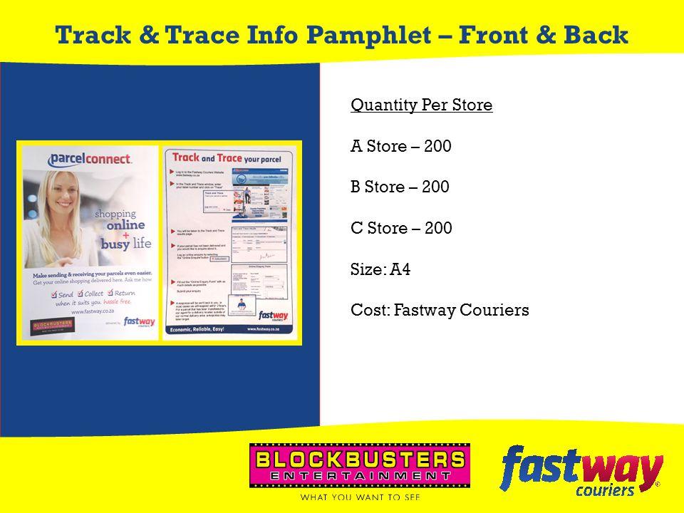 Track & Trace Info Pamphlet – Front & Back