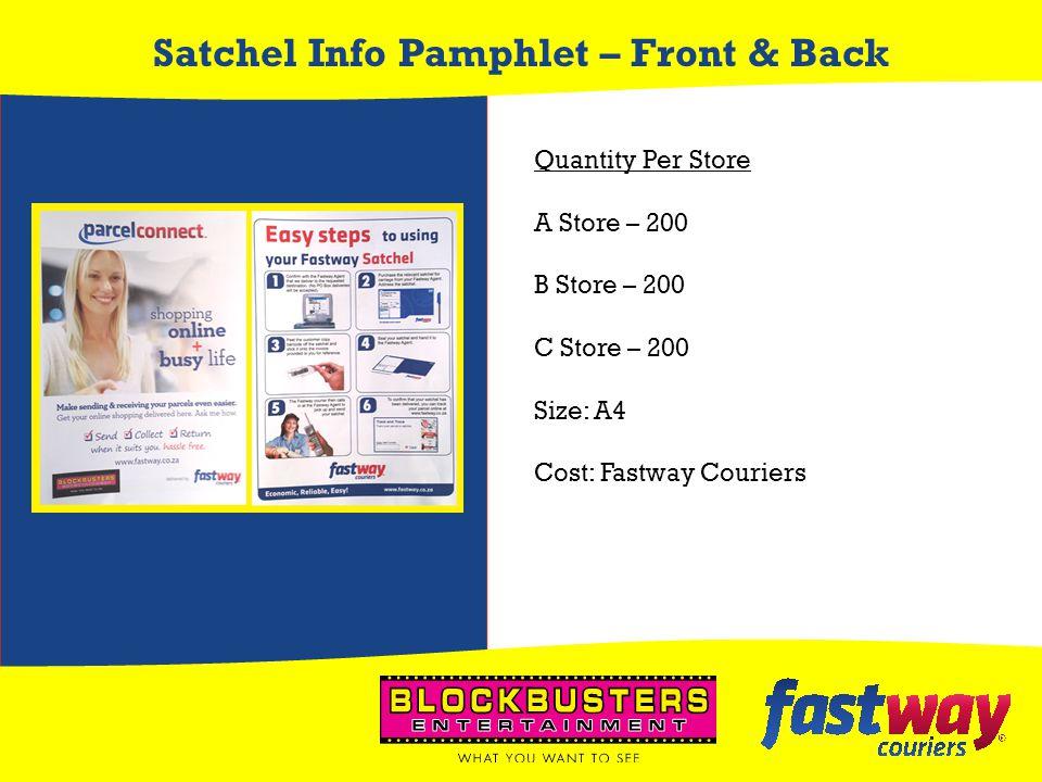 Satchel Info Pamphlet – Front & Back
