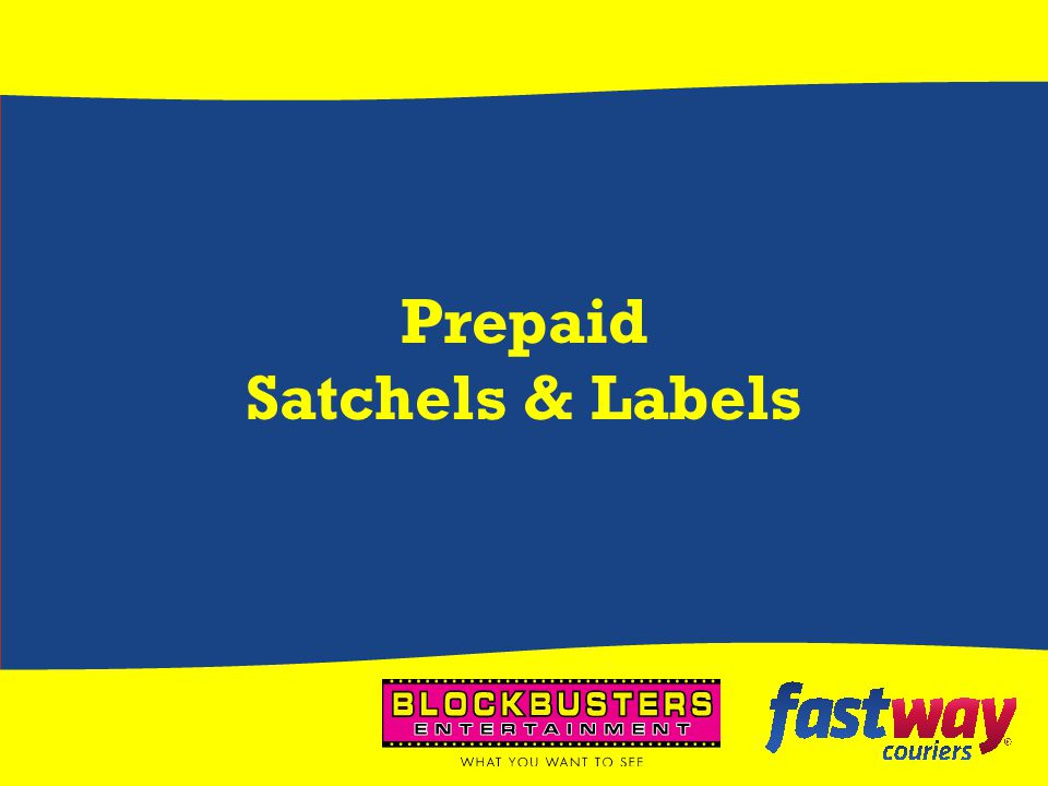 Prepaid Satchels & Labels