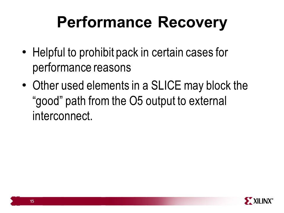 Performance Recovery Helpful to prohibit pack in certain cases for performance reasons.